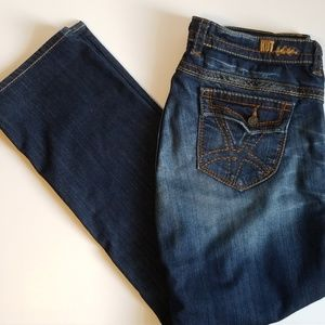 KUT FROM THE KLOTH BACK FLAP STRAIGHT LEG JEANS 14